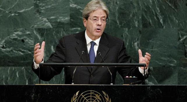 Gentiloni, l'Onu torni in Libia