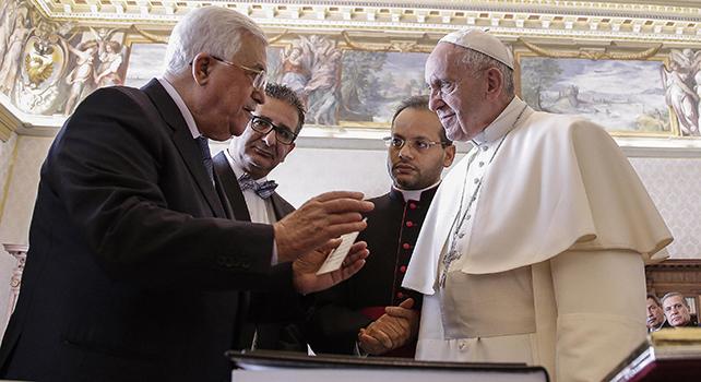 Abu Mazen al Papa: 'Contiamo su di te'
